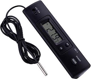 Yosooo Medidor de Temperatura Digital LCD electrónico, Sensor de sonda Termómetro con Pantalla LCD Grande con Cable para refrigerador