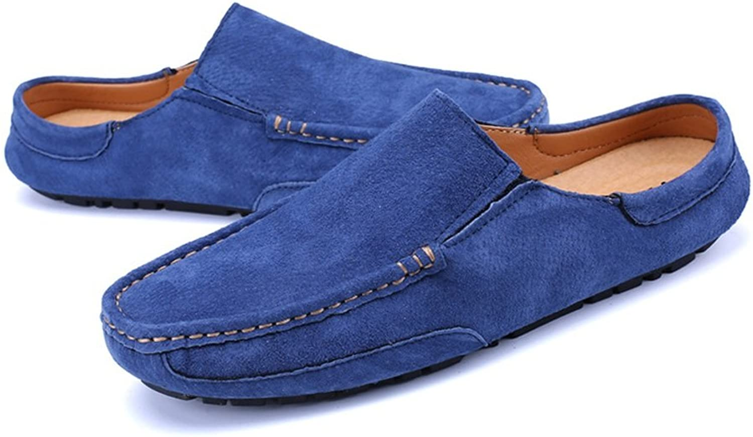 Men's Driving Loafers Genuine Leather Casual Slippers Slip-On Boat Mules Cricket shoes
