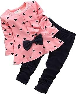 Baby Girls Infant Clothing Set Long Sleeve T Shirt Pants...