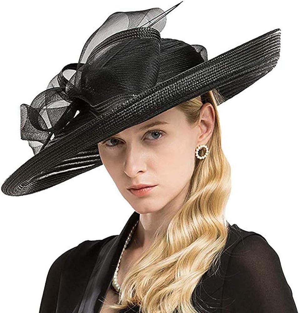 FADVES Women Fascinator Hat Royal Wedding Kentucky Derby Church Party Dress Hats