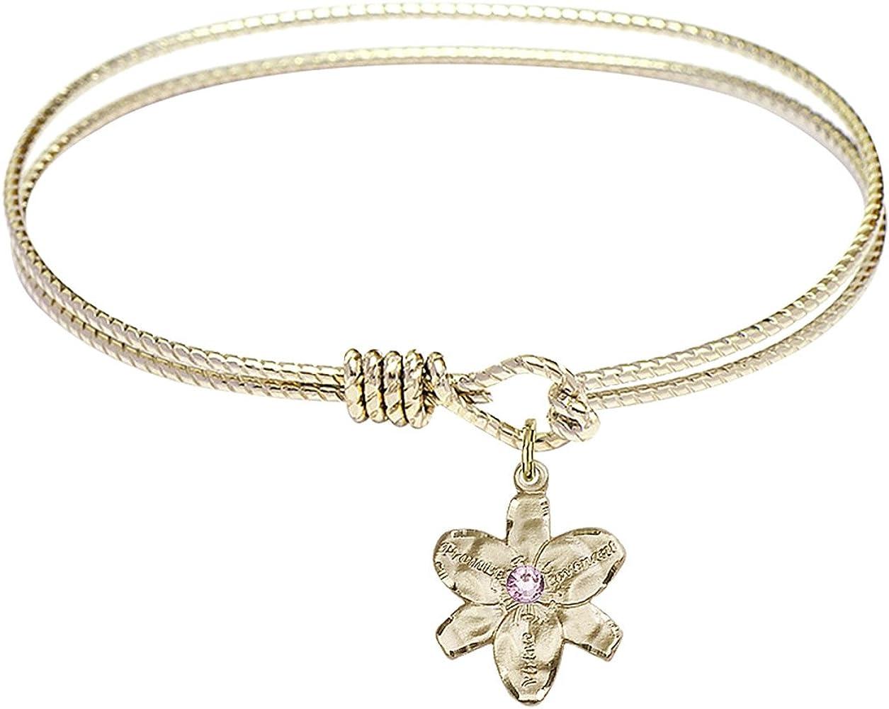 DiamondJewelryNY Eye 5% OFF Hook Bangle Bracelet with Charm. Chastity a List price