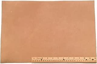 Scrap Leather Piece, Medium Weight Boot Leather; Light Brown Desert Sand Cowhide 18