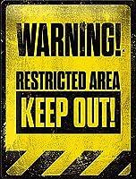 立ち入り禁止区域 金属板ブリキ看板警告サイン注意サイン表示パネル情報サイン金属安全サイン