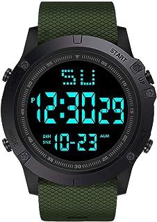Fashion Wrist Watch,Women and Men LED Digital Date Military Sport Rubber Quartz Watch Alarm Waterproof Sports Watch