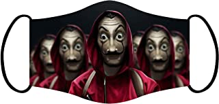 Vista Money Heist Mask for Adults -Cotton Reusable Washable Mask Size 20x13 cms