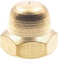 Prime-Line 9077237 Acorn Cap Nuts, #10-24, Solid Brass, 10-Pack