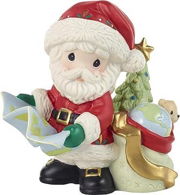 Precious Moments Annual Santa with Map Figurine, Multi