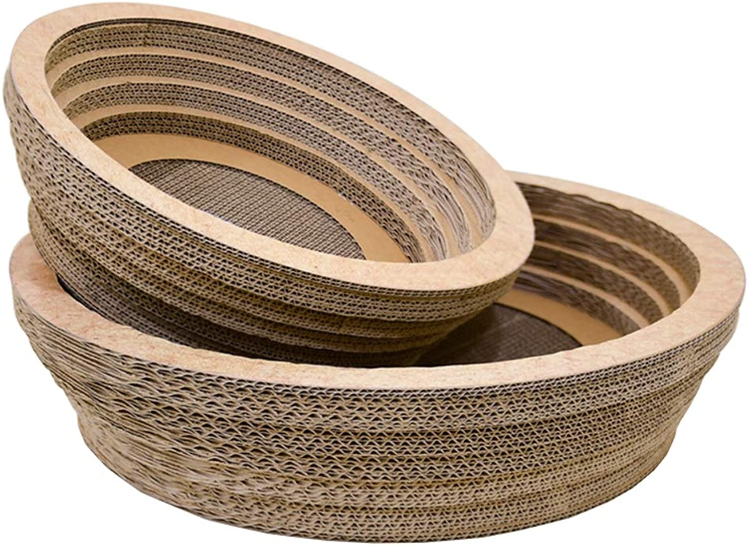 CHEN. Pet bedlarge bowlshaped cat scratch board corrugated paper cat bed claw claw plate claw claw toy pet supplies,Natural,S