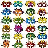Dinosaur Masks Party Supplies (24 Packs) Felt...