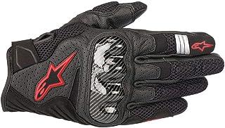 Alpinestars Men`s SMX-1 Air v2 Motorcycle Riding Glove, Black/Fluorecent Red, Large