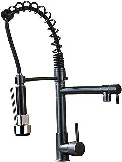 comprar comparacion Saeuwtowy Grifo Cocina Negro Grifo Cocina Extraíble con caño 360° giratorio 2 Funciones Con Ducha Grifos de Fregadero Acer...