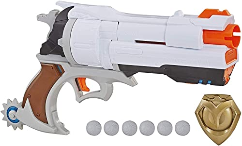 2021 NERF Overwatch McCree wholesale Rival Blaster discount with Die Cast Badge & 6 Overwatch Rival Rounds online sale