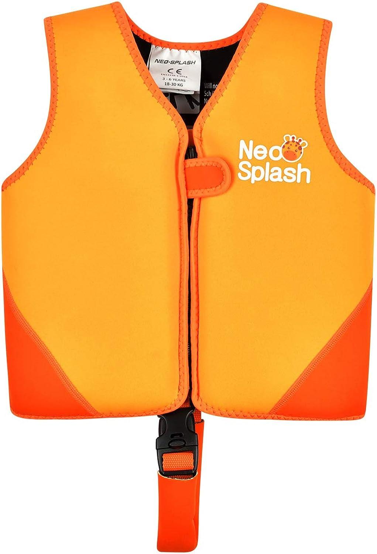 NEO-SPLASH Chaleco de natación para niños, Chaleco de natación, flotabilidad para niños y niñas