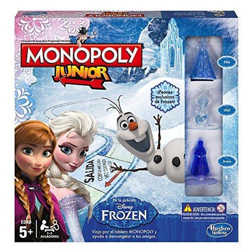 Hasbro - Juego de Mesa Monopoly Junior con diseño Frozen (B22471050)
