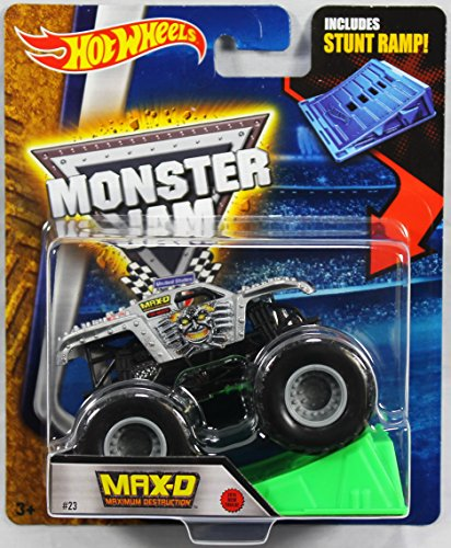 Hot Wheels Monster Jam 1:64 Scale - Max-D Maximum Destruction with Stunt Ramp #23 by Hot Wheels