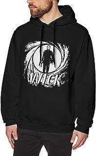 Men's Hoodie John Assassin Wick Sweatshirt Cotton Sweater Black