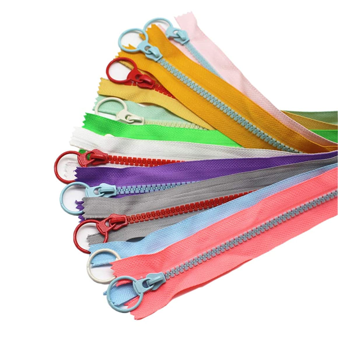YaHoGa 20PCS 12 Inch (30CM) 5# Plastic Zippers Close End Resin Zippers Vislon Zippers for DIY Sewing Craft Bags Garment (12