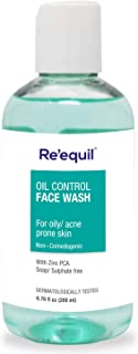 RE' EQUIL Oil Control Anti Acne Face Wash for Oily, Sensitive and Acne Prone Skin - 200ml, Sulphate Free, Soap Free