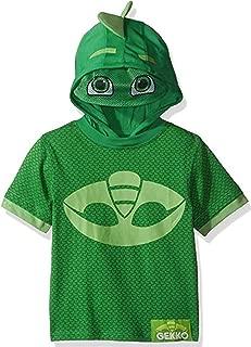 PJ Masks Boys' Little Gekko S/S Hoodie W/Mask