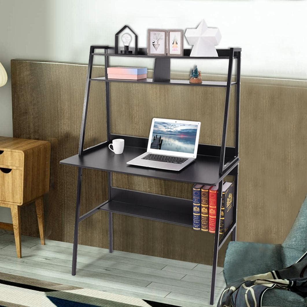 DSVF Computer Desk Seattle Mall with Cheap SALE Start Bookshelf L PC Office Home Mordern