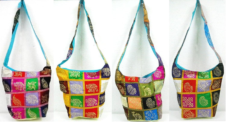 Wholesale Lot of 10 Elegant Designs Handcrafted colorful Indian Shoulder Bags