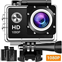 Action Camera, 12MP 1080P 2 Inch LCD Screen, Waterproof Sports Cam 120 Degree Wide Angle Lens, 30m Sport Camera DV Camcorder with with 2 Rechargeable Batteries and Mounting Accessories Kit K-970
