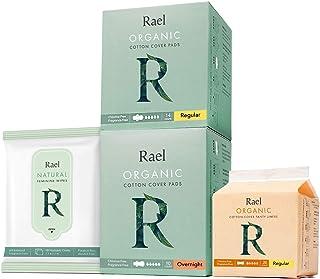 Sponsored Ad - Rael Organic Pads Value Packs - Regular Pads, Overnight Pads, Regular Liners and Feminine Wipes