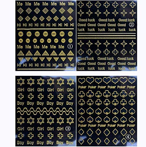 Aysekone 8 Sheets Gold Metal 3D Geometric Butterfly Flower At the ...