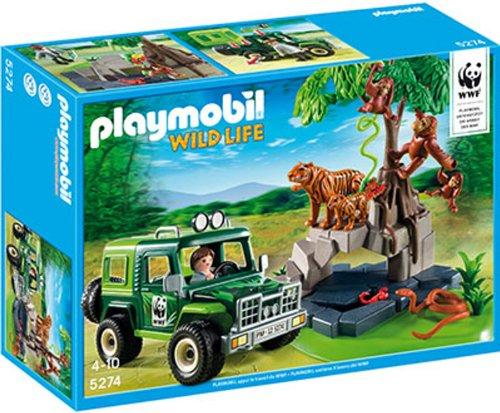Playmobil wild life 5274 vehicule d'exploration avec animaux de la jungle