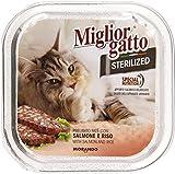 MigliorGatto Sterilized Vaschette salmone e riso 100 Grammi