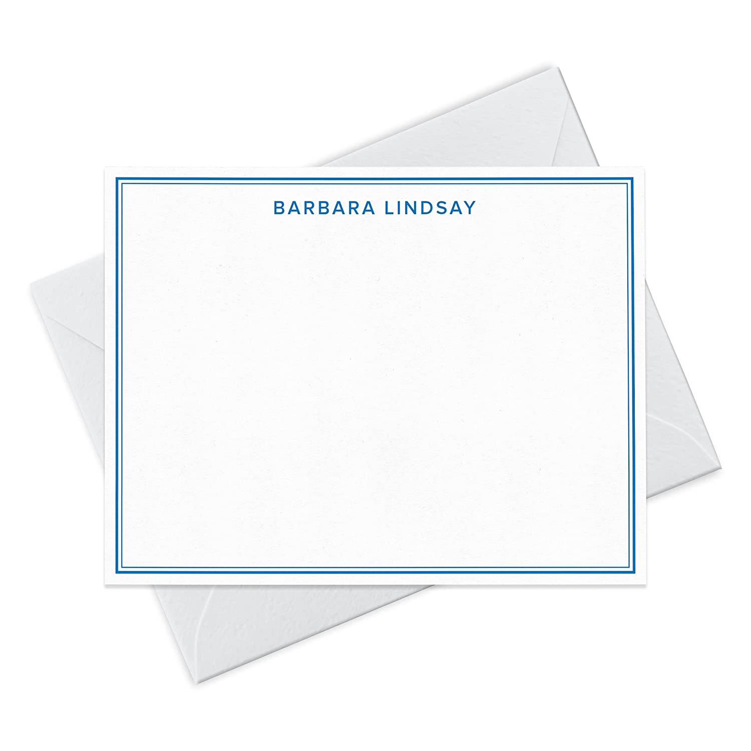 Fashionable Double Border Note Card and Personalized Outstanding Set Stationery Envelope