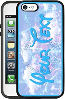 BleuReign(TM) Personalized Custom Name Funky Letters Alphabet Font on Fireworks Background TPU Rubber Silicone Phone Case Back Cover for Apple iPhone 5 5s and iPhone SE
