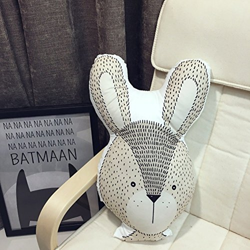 Zinsale Almohada Decorativa de Dibujos Animados Almohada Decorativa de Relleno Almohada de Sofá para Cojín (Conejo)