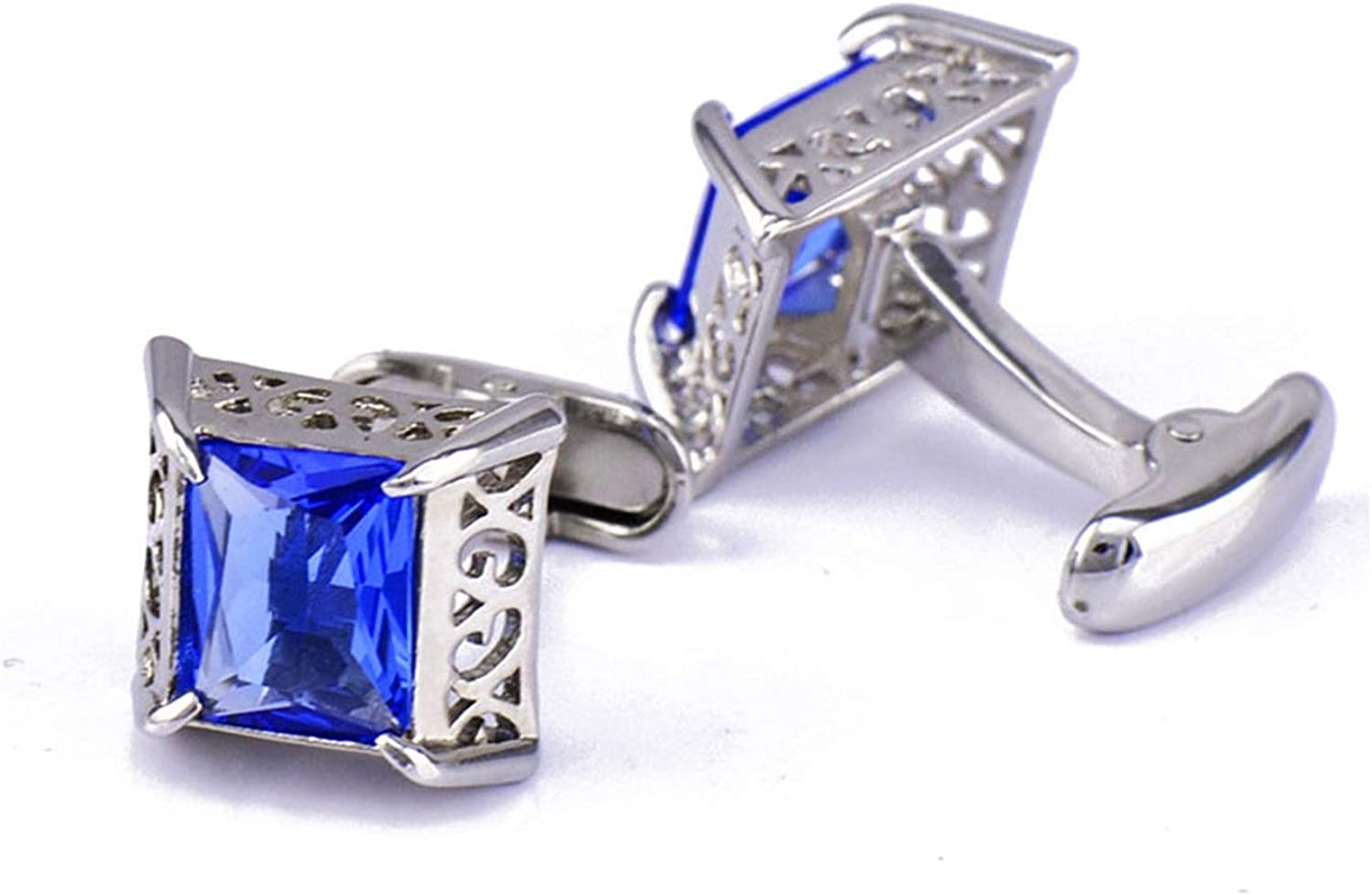 Product KnBoB Men Cufflinks Crystal Blue Formal S Dealing full price reduction Mens Outfits