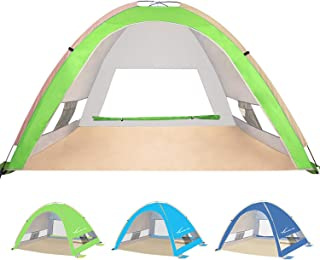 KEUMER Large Pop Up Beach Tent Beach Umbrella Automatic Sun Shelter Cabana Easy Set Up Light Weight Camping Fishing Tents ...