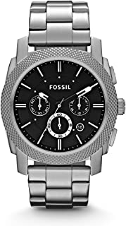 Fossil Men's Black Dial Stainless Steel Band Watch FS4776