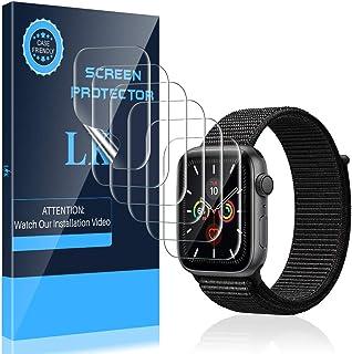 LK Compatible con Apple Watch Series 5 Series4 44mm Protector de Pantalla, 6 Pack,TPU-Film,Alta definición,Sensible al Tacto