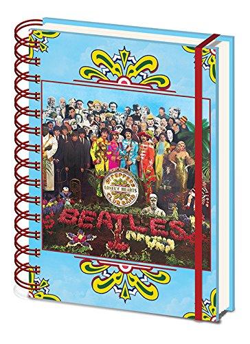 The Beatles Cuaderno de Notas con Espiral A5–SGT. Pepper 's Lonely Hearts