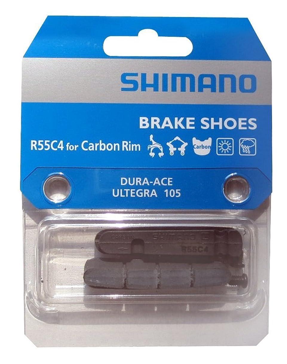 肥料シェア突然のシマノ R55C4 カートリッジタイプブレーキシュー [Y8L298070] BR-9000 カーボンリム用 リム幅21mm-24mm用