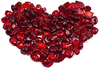 OMEM Big Red Glass Crystal Stone, Aquarium Stone, Fish Tank Gravel, Vase, Plate Planting, Aquarium Decor