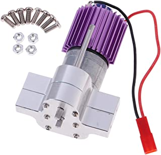 sharprepublic 1:16 Engine 370 + Central Gearbox + Calefactor Partes de Actualización para Modelos de Automóvil RC WPL Y JJRC Q60 / Q61 - Plata