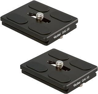 Rollei QAL 50 I professionelle Kamera Schnellwechselplatte/Schnellverschlussplatte I Passend für alle Kameras mit 1/4 Stativgewinde und Arca Swiss kompatibel I 2 er Pack