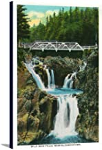 Elizabethtown, New York - View of Split Rock Falls and Bridge (11 1/2x18 Gallery Wrapped Stretched Canvas)