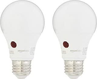 AmazonBasics 60 Watt Equivalent, Dusk to Dawn Sensor, Non-Dimmable – A19 LED Light..