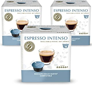 Intense Espresso Blend, Dolce Gusto-Compatible, (3X16 Capsules), by REAL COFFEE, Denmark