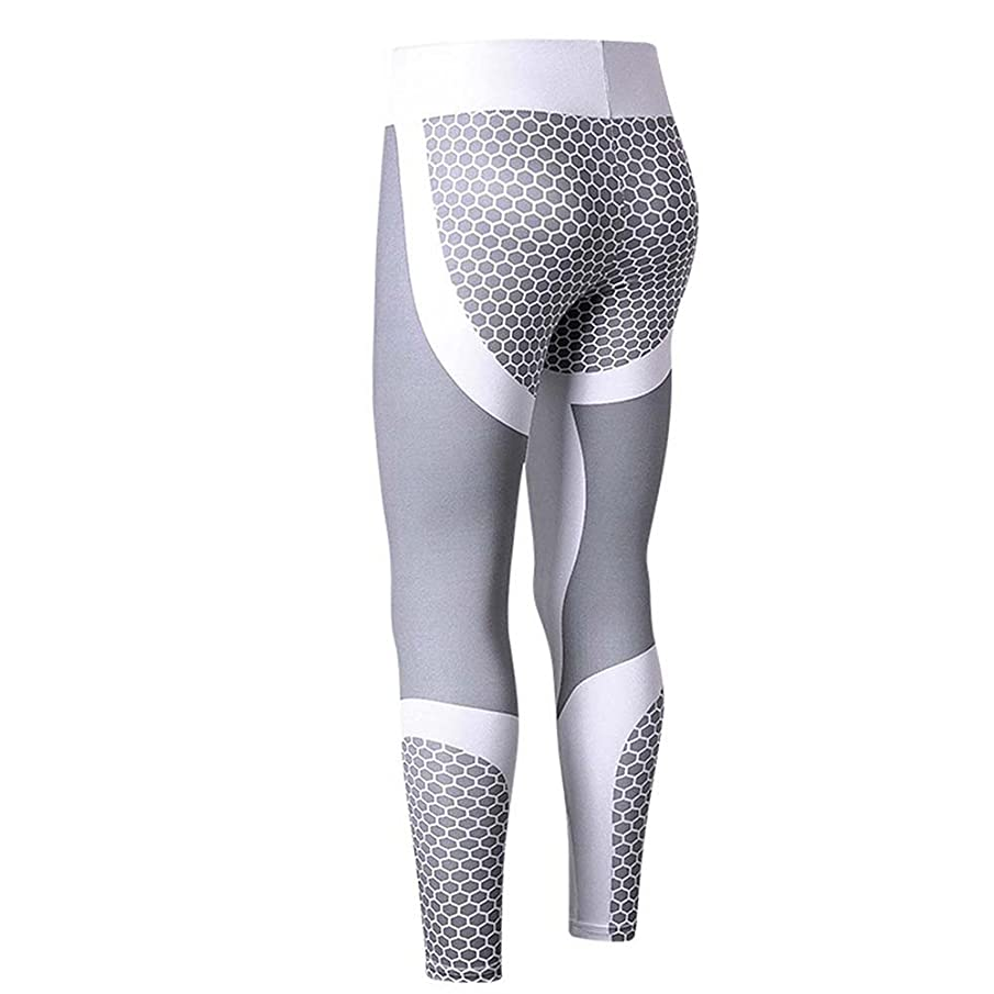 Amiley Women's Printed High Waist Yoga Legging Compression Pants Workout Leggings Athletic Pants Tights Trousers
