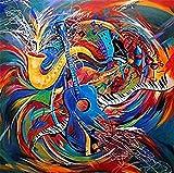 Malen Nach Zahlen Diy Rhapsody Gitarre Wandmalerei Kunstmalerei Hauptdekoration