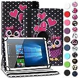 Nauci Tablet Hülle für Xido Z120 Z110 X111 X110 Tasche Schutzhülle Hülle Cover aus Kunstleder Standfunktion 360° Drehbar, Farben:Motiv 3