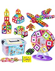 FlyCreat マグネットブロック 特許あり 磁気おもちゃ 子供 女の子 男の子 知育玩具 観覧車付き マグネットおもちゃ 磁石ブロック 想像力と創造力を育てるオモチャ 立体パズル ゲーム モデルDIY 磁石積み木 誕生日 ギフト 出産祝い プレゼント 贈り物 特許実施許諾承認 収納ケース付き 帰省してきたお孫さんのプレゼントに