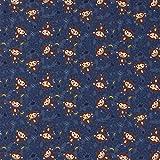 Stoff Baumwolle Meterware Jersey Affe blau dunkelblau